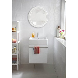 Arctic 250x200 - White Relief Wall Tile 1265
