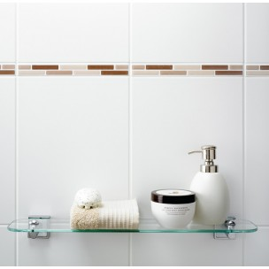 Dimensions 400x250 - White Matt Wall Tile 1270