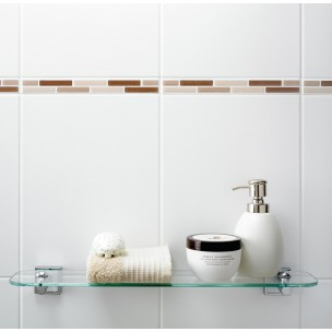 Dimensions 400x250 - White Wall Tile 1268