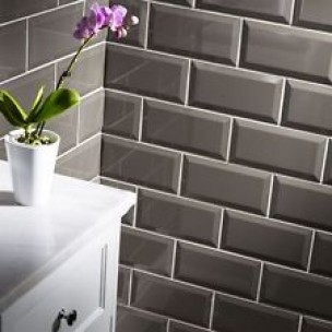 Metro Bevelled Edge 150x75 - Silver Grey Tile 1493