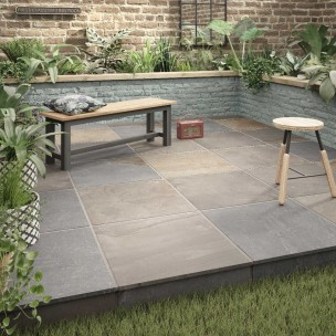 Newby Grey Multi Outdoor Porcelain 600x600 - P10826