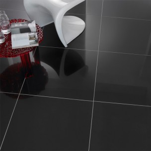 Super Polished Porcelain 600x300 - Black 1229A