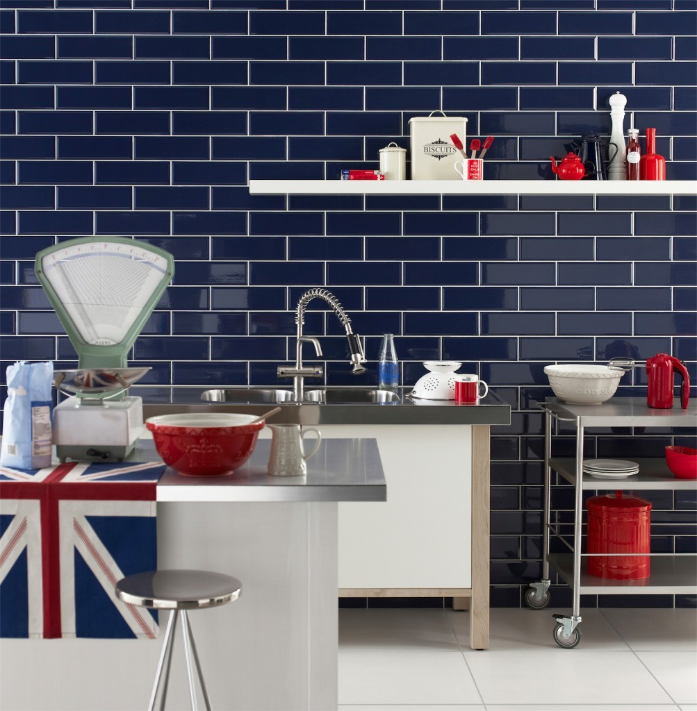 Metro Bevelled Edge 200x100 - Sky Blue Tile 1489 - Metro - Kitchen ...