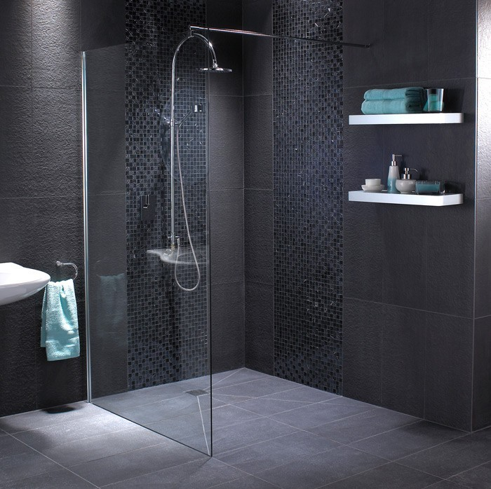 Fossil Matt 600x600 - Black Floor Tile DEM-FMB6060 - Bathroom Tiles ...