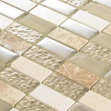 Light Beige Linear - Mosaic Sheet 6809