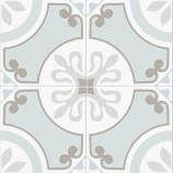 Ribera Aqua Matt Patterned Ceramic Tile 450x450mm - P11035