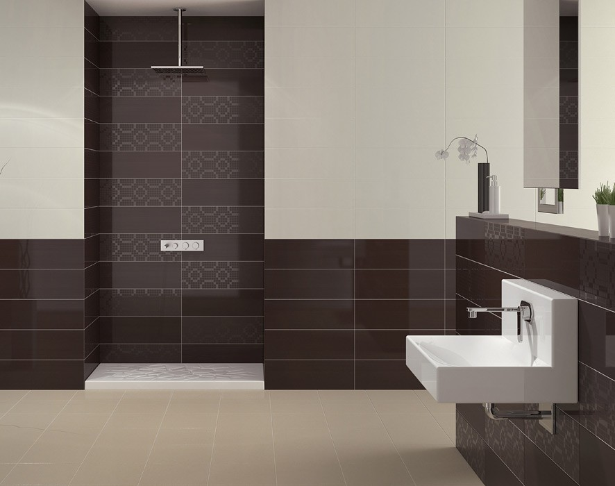 Simple Redwalltilesbathroomtiledesigns11